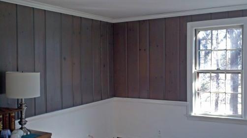aged wood paneling