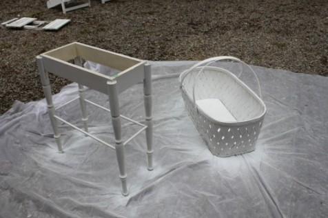 spray painting bassinet