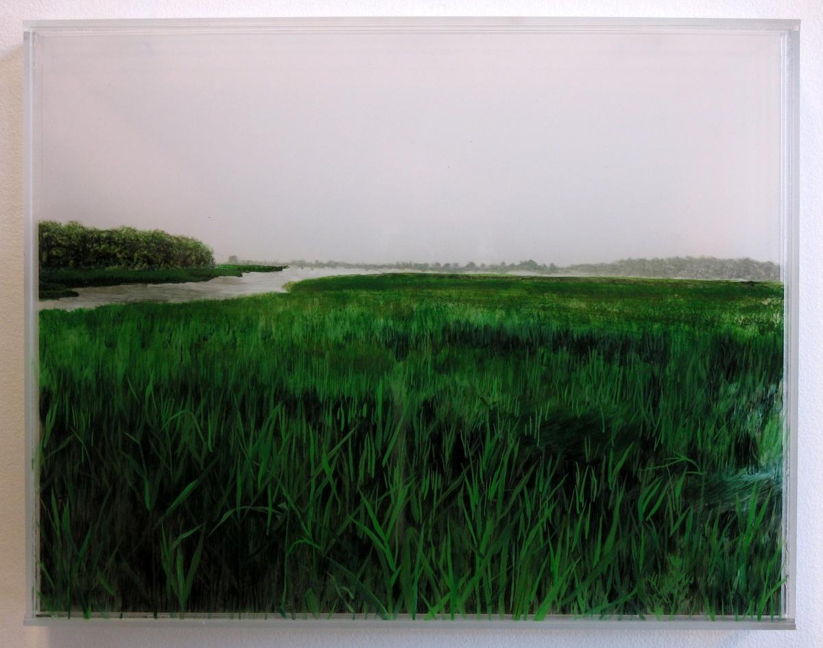 """Marshland, Cohasset"" © Jess Hurley Scott landscape painting by © Jess Hurley Scott"