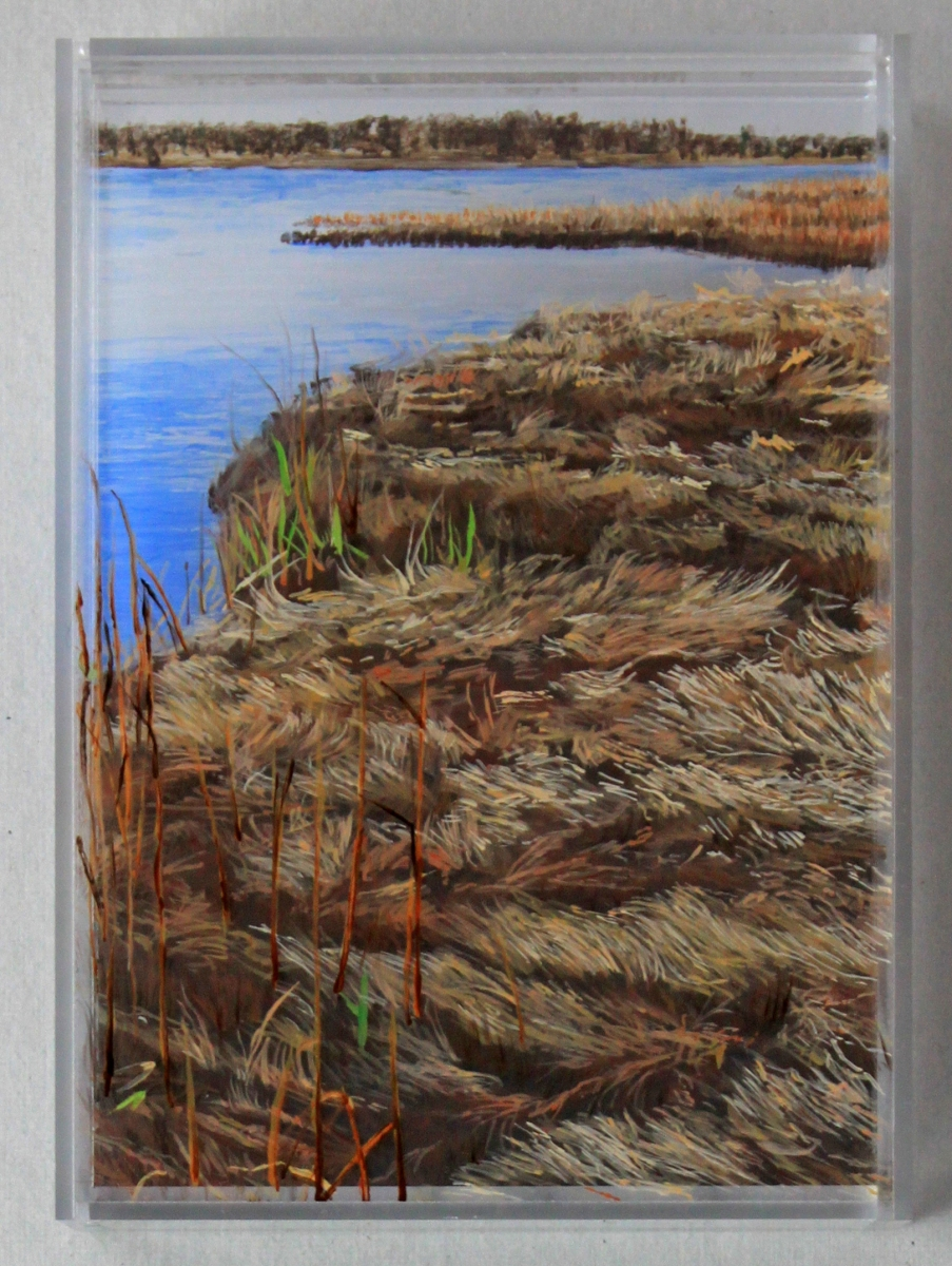 """Winter Harbor, Cohasset"" © Jess Hurley Scott landscape painting"