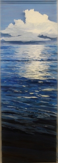"""Adrift, Lucaya"" © Jess Hurley Scott landscape painting"
