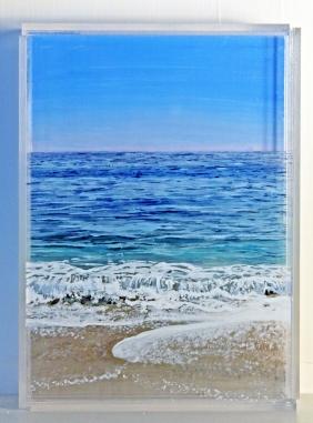 © Jessica Hurley Scott, landscape layered painting, seascape