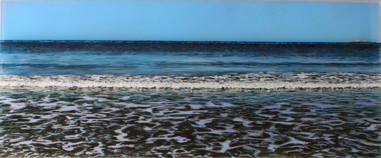 'Before The Erosion, Minot' acrylic on acrylic panel © Jess Hurley Scott