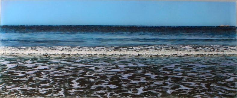 """Before The Erosion, Minot"" acrylic on acrylic panel © Jess Hurley Scott"