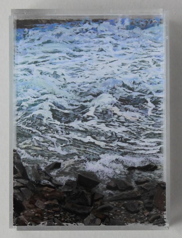 """Heading Out, Cohasset"" © Jess Hurley Scott; acrylic on acrylic panel"