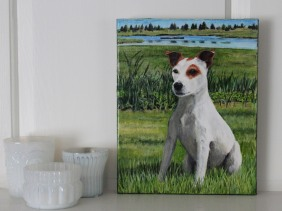 pet portrait of max by Jess Hurley Scott