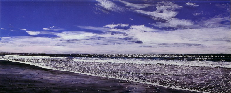 Moment of Clarity, seascape by Jess Hurley Scott ,acrylic on multiple acrylic panels , landscape painting