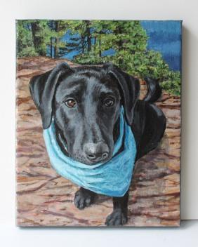 """""""Kenya"""", Jess Hurley Scott© 8x10"""" acrylic on canvas"""