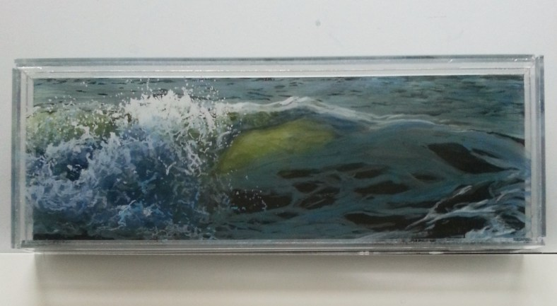 "Illumination, 5x13"" acrylic on multilayered acrylic panel, 2015, ©Jess Hurley Scott"